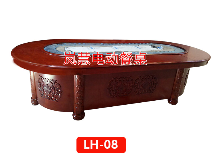 自助火鍋傳菜設備餐桌橢圓形電動餐桌廠報價